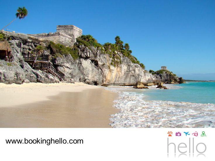 LGBT ALL INCLUSIVE AL CARIBE. Bajo el acantilado de las ruinas mayas de Tulum, se encuentra Playa Paraíso, considerada como una de las más hermosas del Caribe y una de las mejores de la Riviera Maya. Un espectacular sitio que debes visitar con tu pareja, para disfrutar verdaderamente de este destino. En Booking Hello te invitamos a adquirir tu pack all inclusive y elegir el resort Catalonia Royal Tulum, ubicado muy cerca de este atractivo turístico. #BeHello