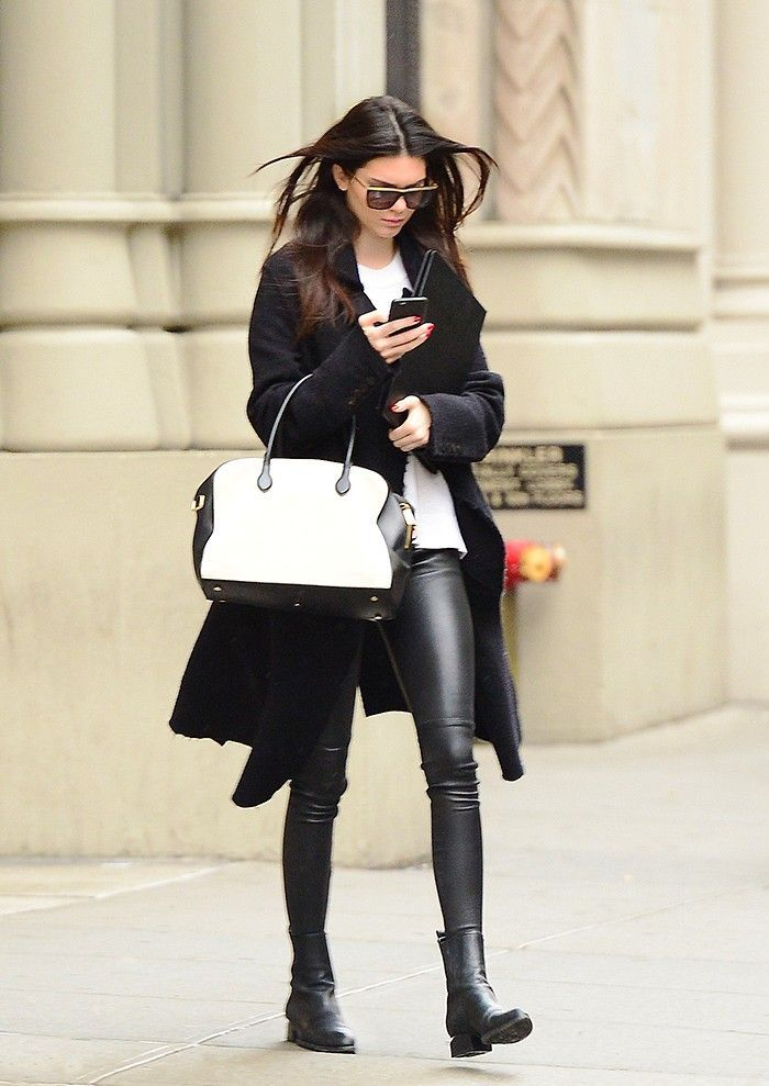 Easy Outfit Formula: Black Leather Skinnies & Jackets