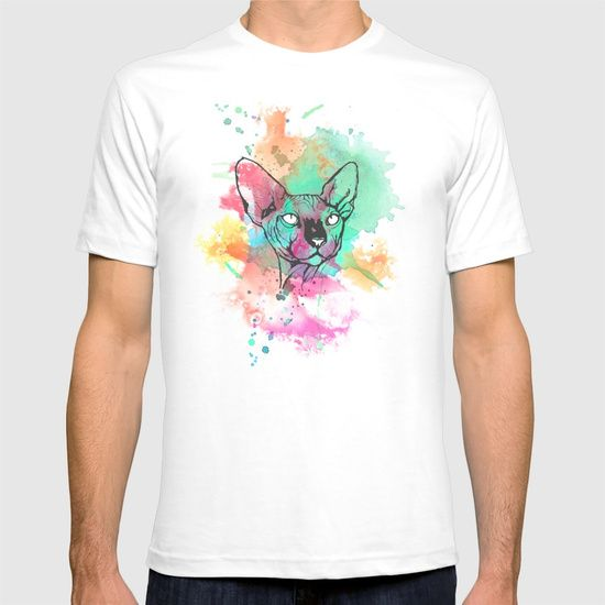 Check out society6curated.com for more! @society6 #fashion #style #tshirt #shirt #clothing #accessory #accessories #gift #idea #buy #shop #shopping #sale #fun #art #awesome #drawing #illustration #sphynx #cat #cats #pets #animals #watercolor