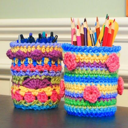 Crochet Mason Jar Cozy Pattern