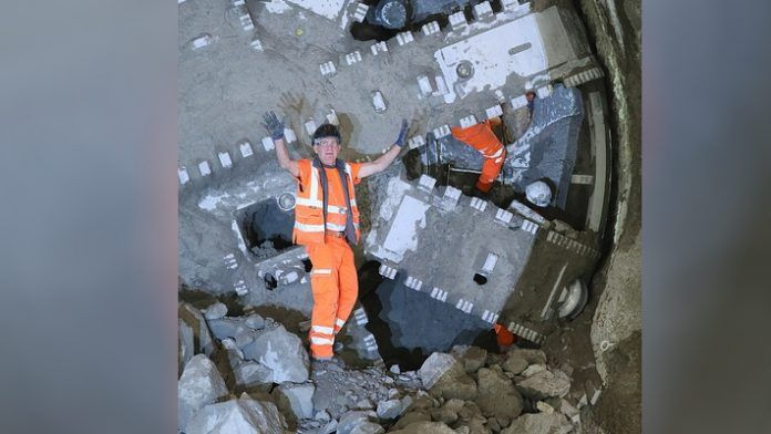 Tunneling breakthrough on the Northern Line