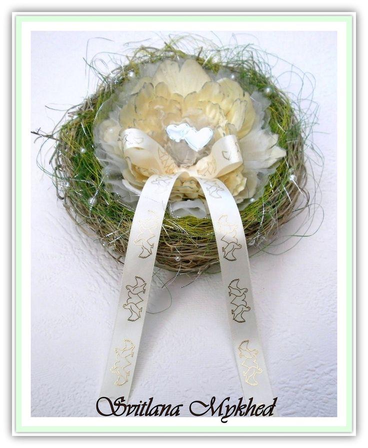 Porte Alliances `Tendresse` Incrusté de perles nacrées. Création unique : Accessoires de maison par perles-et-couronnes