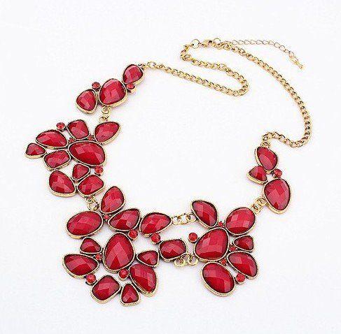 #Ladies New Metal #Rhinestone Drop Bubble Resin Gem #Flower Choker #Bib #Necklace http://www.mysharedpage.com/ladies-new-metal-rhinestone-drop-bubble-resin-gem-flower-choker-bib-necklacewiipu-1231-red $99.00