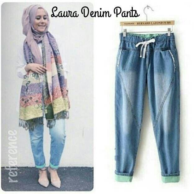 #grosircelanajeans LAURA PANTS, bahan jeans washed harga 70k www.ramailancar.com www.facebook.com/tokobajurajutmurah 0857 2212 6318 #busanamuslim #grosirsweater #grosirjaket #jaketfleece #jaketcouple #bajuanak #bajurajut #grosirbajumurah #swaterrajut #pakaianmurah #jaketmurah #skirt #pants