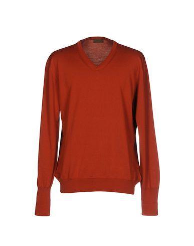ALPHA STUDIO Men's Sweater Rust 42 suit