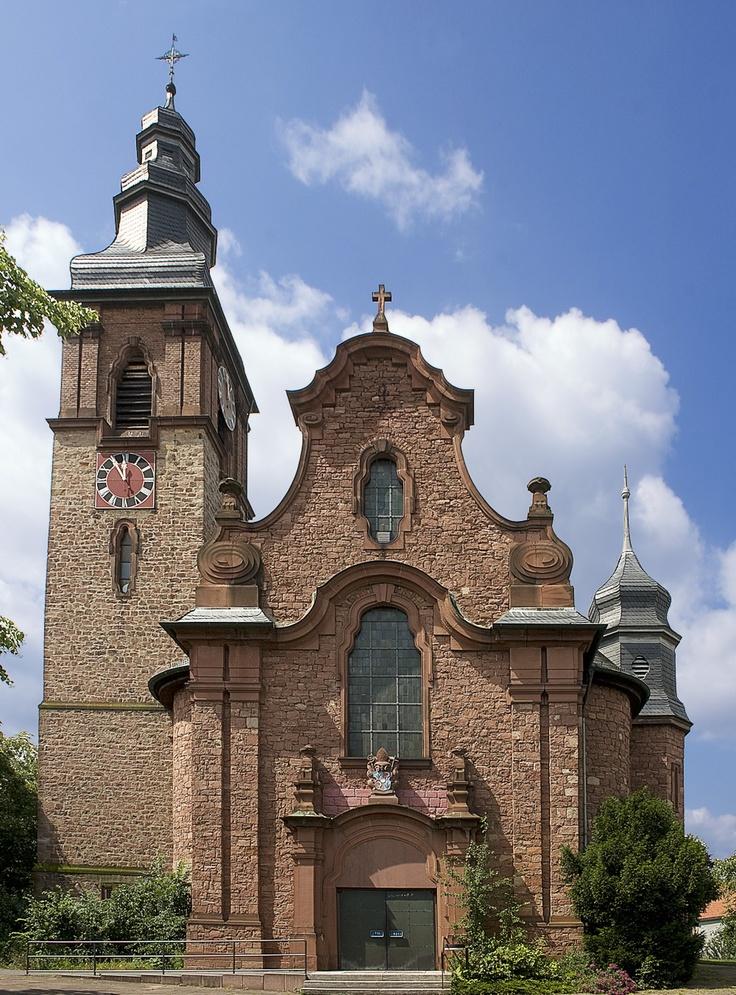 St.-Katharina-Kirche in Alzenau-Wasserlos, Bayern (Deutschland)