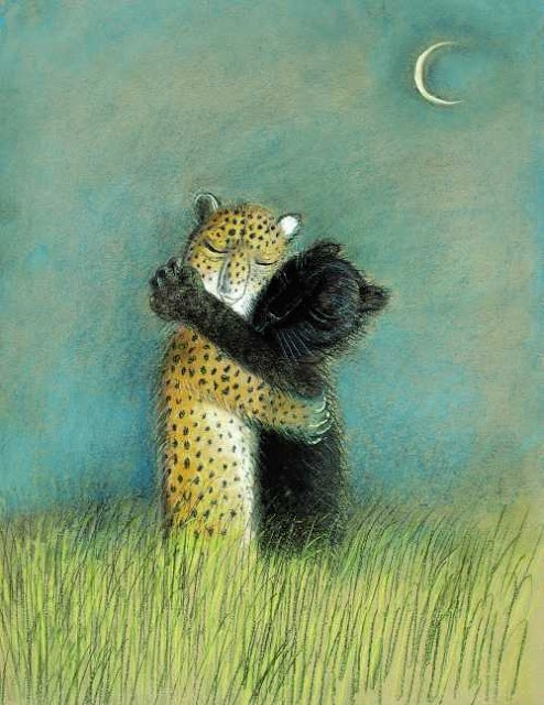 Illustration by Józef Wilkoń for Leopanther, A Love Story, 1997