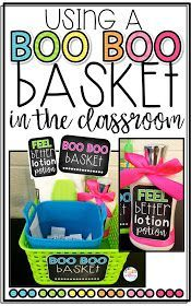 Using a Boo Boo Basket in the Classroom with a FREEBIE!!!