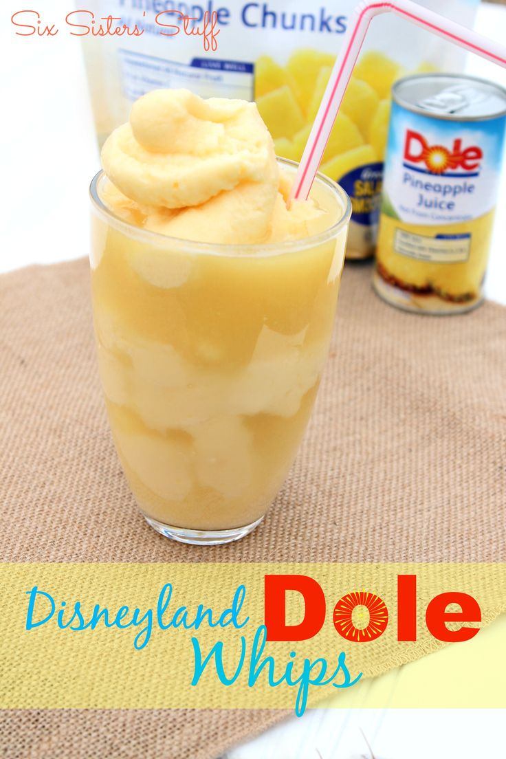 We love this copycat Disneyland Dole Whips recipe! Check it out on sixsistersstuff.com