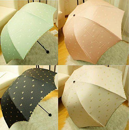 折りたたみ レディース 傘 & 日傘 晴雨兼用 で UV カット 【UV 100 遮光】 で 軽い かわいい かさ ポケット サイズ だから バック の中 邪魔 にならない (ブラック)