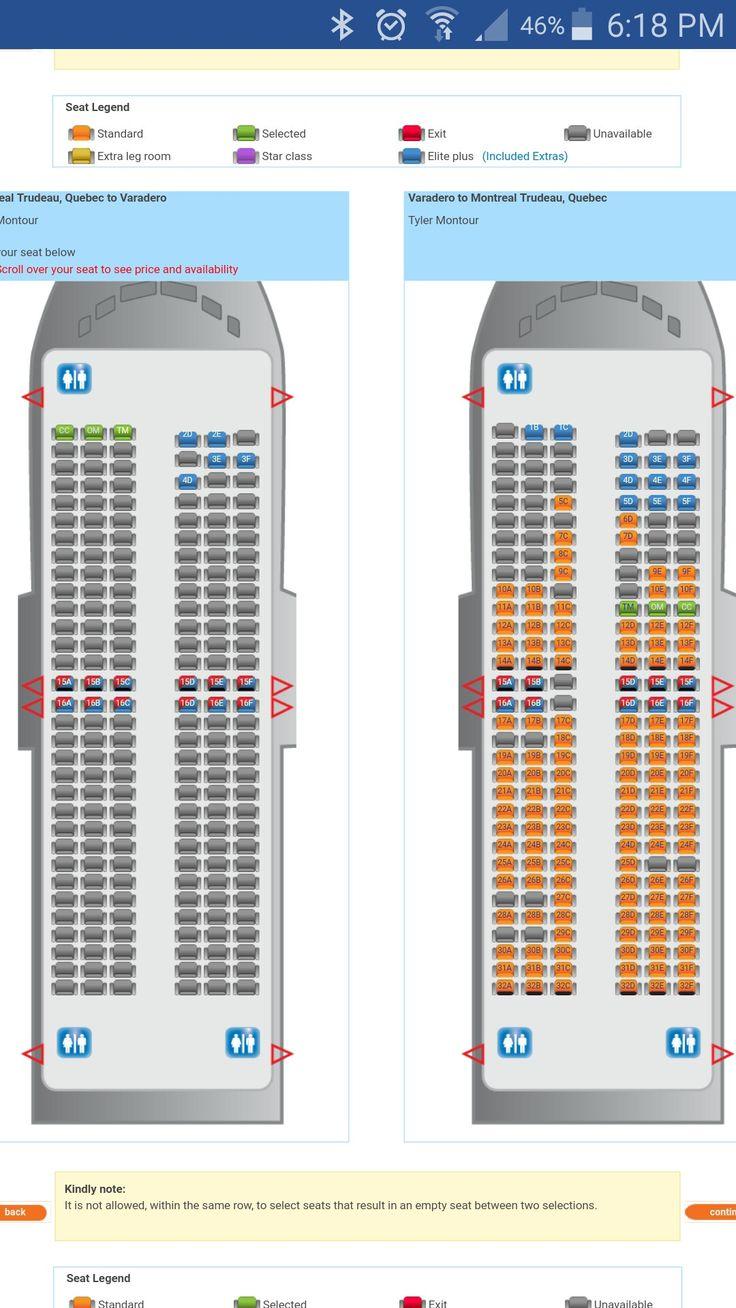 sunwing 737-800 seats