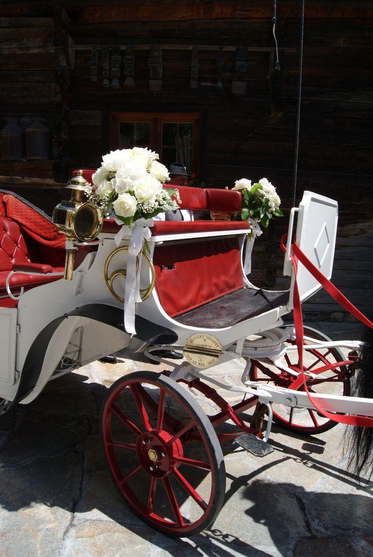 Décoration calèche mariage Marie Pétale