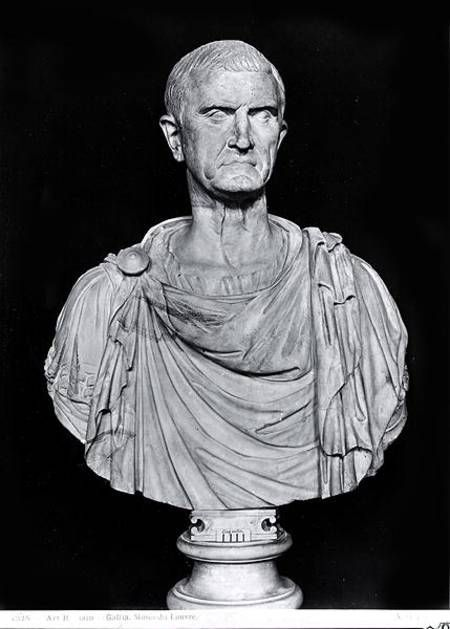 Roman Statues Canvas Prints - Bust Of Marcus Licinius Crassus C.115-53 Bc