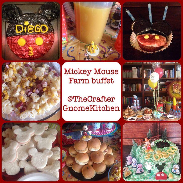 Mickey Mouse farm buffet ideas.
