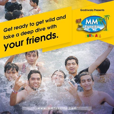 Good #friends don't let you do stupid things.... ALONE! Get ready to get wild and take a deep #dive with your friends. #MMFunCity