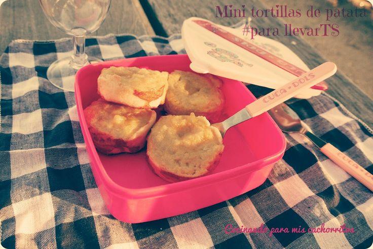 Mini tortillas de patata al horno #parallevarTS ~ Cocinando para mis cachorritos