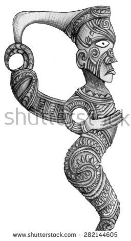 stock-photo-maori-sculpture-pencil-drawing-282144605.jpg (256×470)