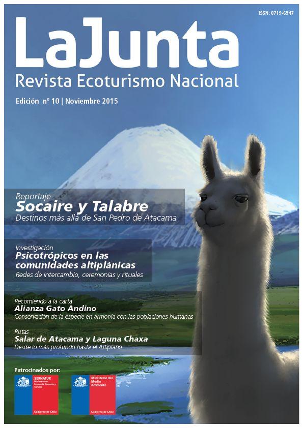 Celebramos esta décima edición dedicándola al Altiplano Chileno !, tan hermoso y único en su totalidad. Descubre más sobre el maravilloso mundo altiplanico y al ecosistema que lo habita, la conservación de especies y la armonía con las poblaciones humanas en su ejecución, arboles en el altiplano?... Esto y mucho mas!  Link de descarga --> http://www.revistalajunta.com/lajunta/wp-content/uploads/2015/11/10a-EDICION-A.pdf  Comparta, difunda y comente :) Saludos!