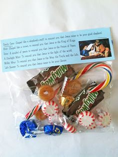 Merry Christmas and a free printable (The True Meaning of Christmas in candy)