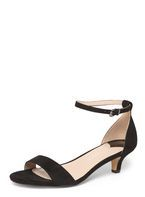 Womens Wide Fit Black 'Sundae' Sandals- Black