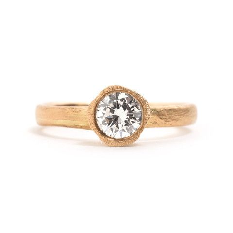 Precious Big Rock Solitaire Yellow Gold Ring