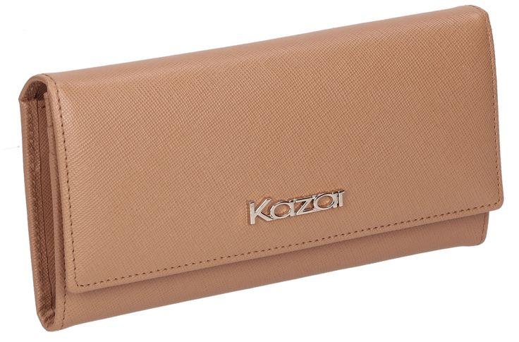 Beżowy portfel 24567-16647-01-32 z kolekcji 2014 - sklep internetowy Kazar