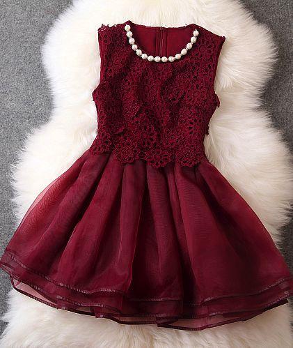 Gorgeous wine red dress
