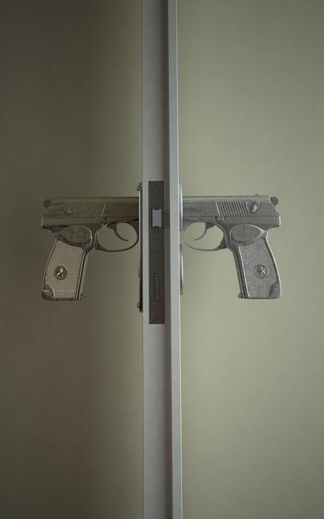 gun knobs...Okay, these are totally legit! :D