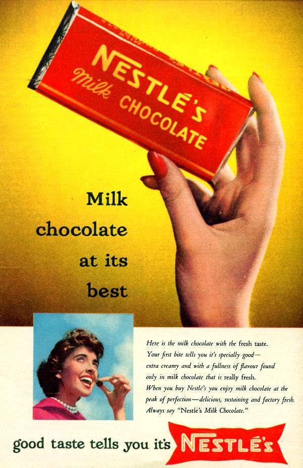 Nestle chocolate ad from 1956: