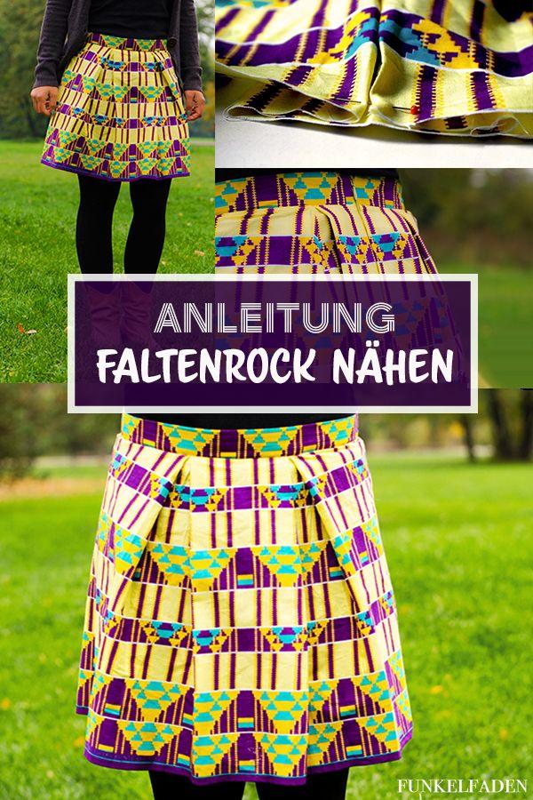 Nähanleitung – Rock mit Falten › Anleitungen, Do it yourself, Genähte Kleidung › Anleitung Rock nähen, DIY, Freebook, Nähanleitung