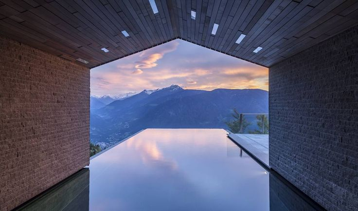 Infinity pool South Tyrol ☆ MIRAMONTI Hotel Infinity pool Merano