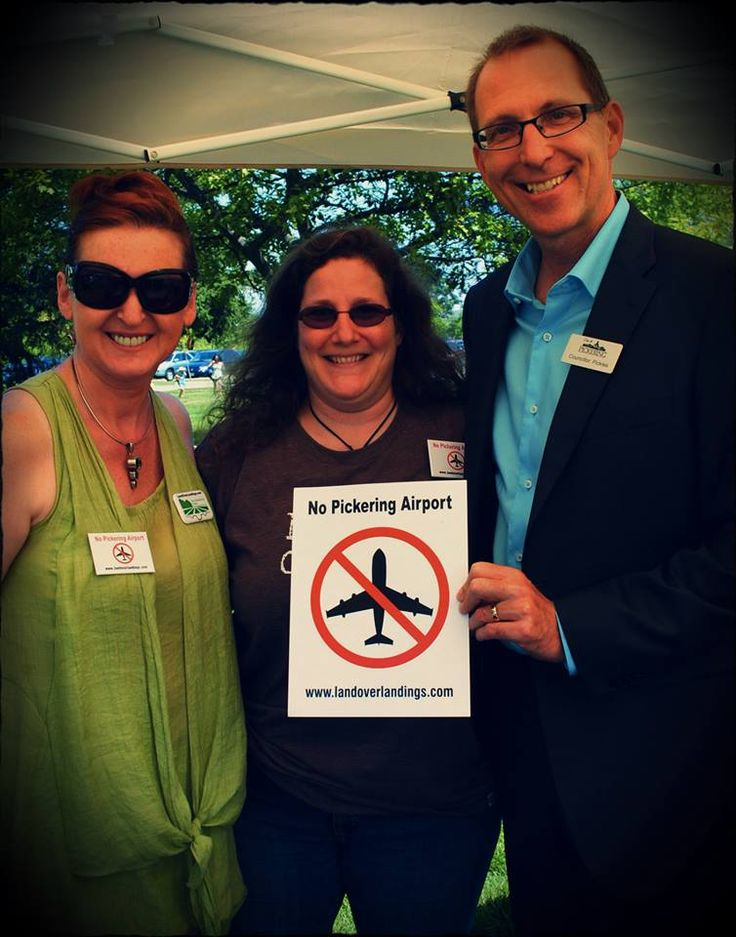 LOL Exec members Aileen Provan & Joanne Azevedo with Pickering Councillor David Pickles. — at MAYDAY, Ajax.