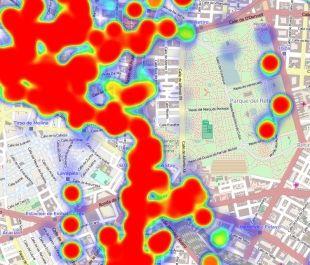 A partir del terrorífico historial de ubicaciones de Google, capaz de decirte dónde has estado exactamente cada día, un desarrollador de EE UU crea una herramienta para visualizar tus movimientos en un aterrador mapa de calor.