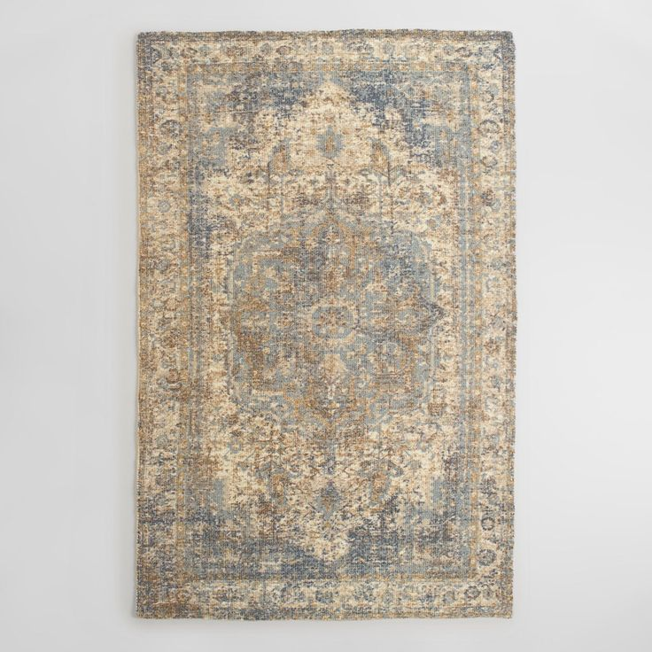 Tufted of 100% nylon, our high-performance area rug is printed with an intricate vintage-style design distressed for an antique-chic appeal.…