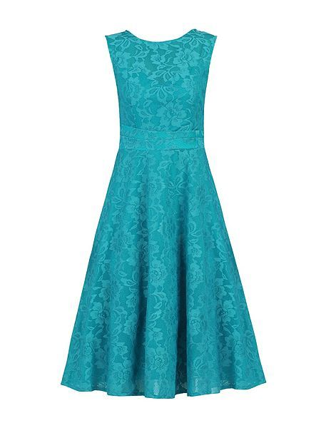 Lace Bonded Fit & Flare Dress