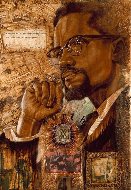 "Malcom X,wak paintings | WAK Art: Kevin ""WAK"" Williams Art Gallery - The Black Art Depot"