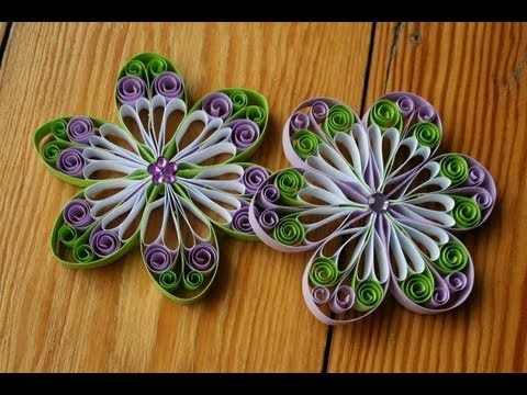 Quilling Tutorial - Quilled beautiful flower for decoration - YouTube