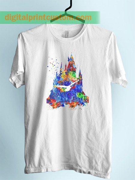 Harry Potter Hogwarts Castle Unisex Adlut Tshirt