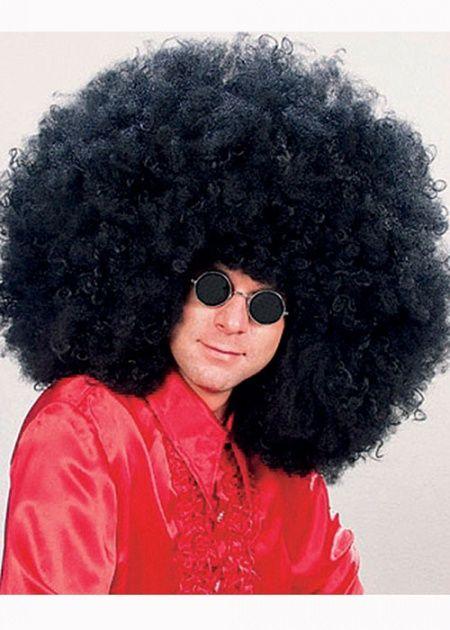 70\'s Fancy Dress Large Super Jimmy Afro Wig