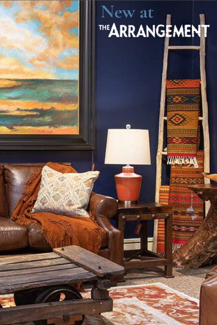 A living room set with a tribal-western feel that demands to be ...