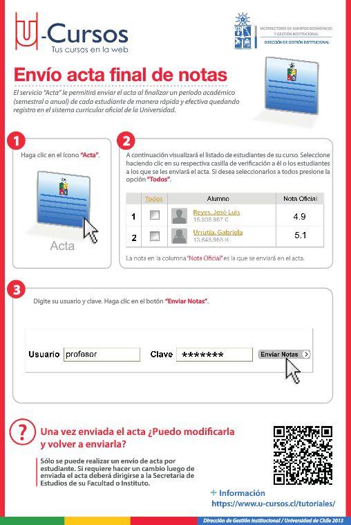Envío acta final de notas. Para ver la versión web visite http://www.dgi.uchile.cl/docs/fb/guias/u_cursos_enviar_acta/