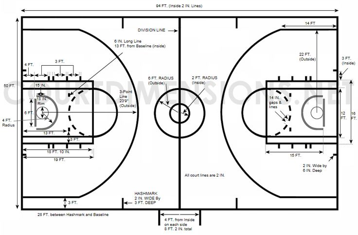 Professional Basketball Court Dimensions