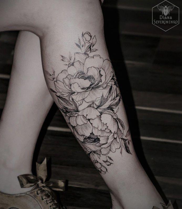 Tattoo pivoine Plus