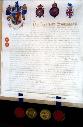 Letters Patent of Thomas Grey