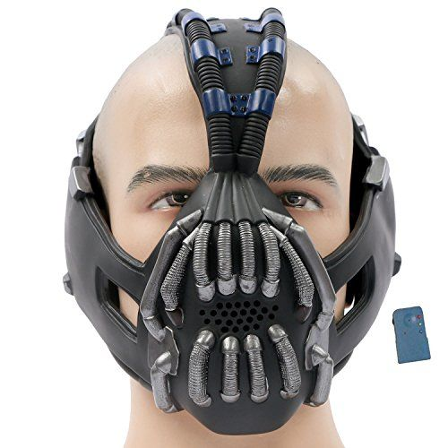 TDKR Batman Bane Mask Replica with Voice Changer Newest Version for Halloween Costume Cosplay 2013 C @ niftywarehouse.com
