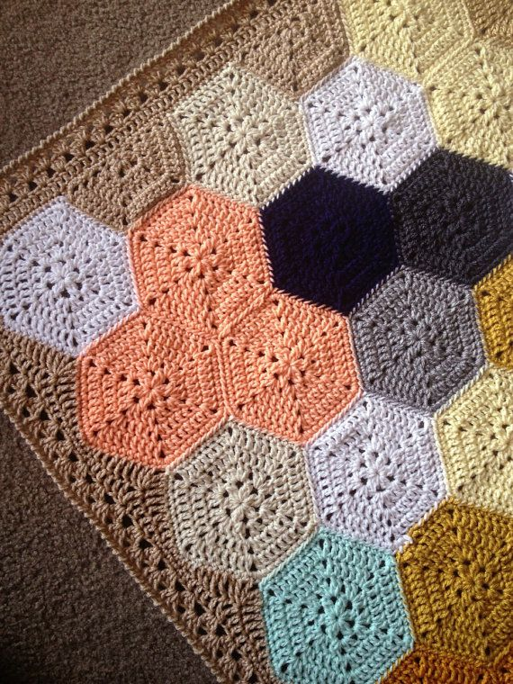 Geometric Crochet Afghan Pattern : BabyLove Brand Geometric Lace Blanket/Afghan por ...
