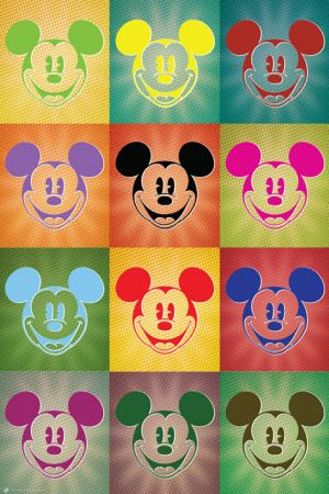 Disney Mickey Mouse - Popart Affiche