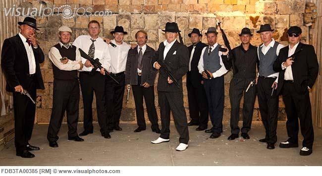 Gangster Themed Bachelor Party in a Firing Range