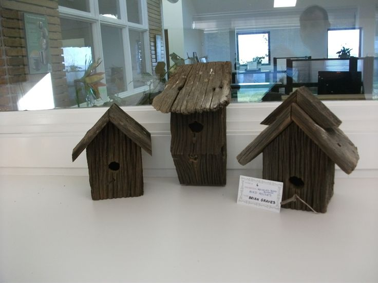 Birdhouses made from salvaged barn board. Entry submitted by Brian Graves