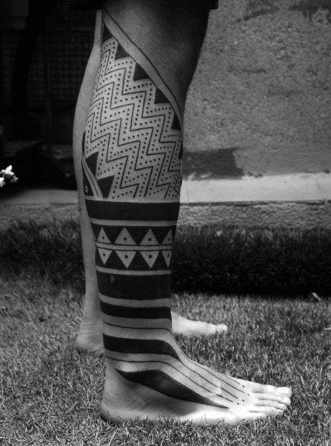 60 Tribal Leg Tattoos For Men Cool Cultural Design Ideas Legs